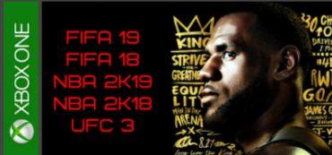 FIFA 19, FIFA 18, NBA 2K19, NBA 2K18, UFC 3 Xbox One