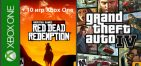 GTA IV, Red Dead Redemption + 10 игр Xbox One